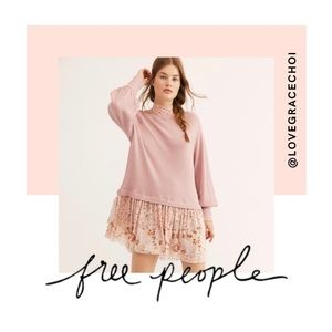 Free People | Opposites Attract Pink Sweater Dress